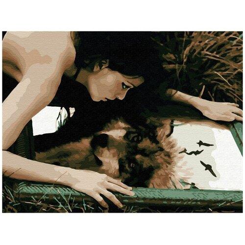 Купить Картина по номерам Molly «волчица» (Холст на подрамнике, 30х40 см), Картины по номерам и контурам