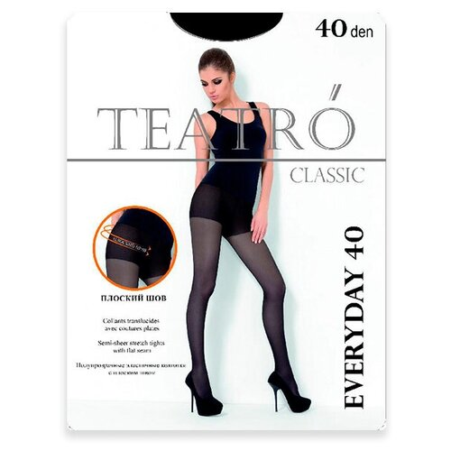 Колготки TEATRO Everyday, 40 den, размер 2-M, nero (черный)
