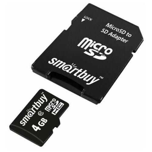 Фото - Карта памяти Smartbuy Micro SD 4 Гб карта памяти smartbuy micro sd 256 гб