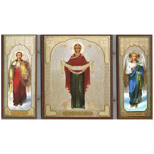 Складень Покров Пресвятой Богородицы, 22х12 см
