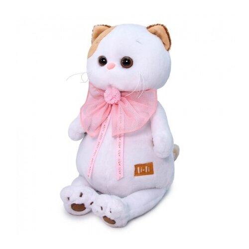 Мягкая игрушка Basik&Co Кошка Ли-Ли с розовым бантом 27 см