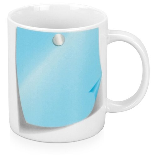 Кружка «Оставь заметку!», белый/голубой