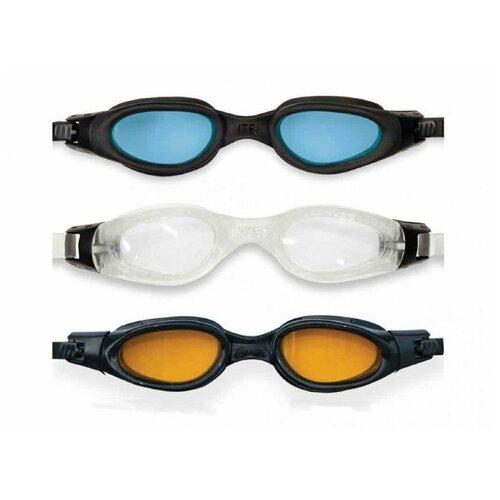 Фото - Очки для плавания Intex Pro Racing (в ассортименте) 55692 набор для плавания intex aqua pro серый