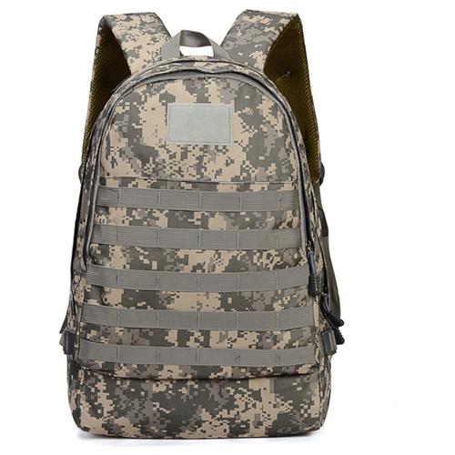 Рюкзак MyPads M00-65 из качественной износостойкой льняной ткани для ноутбуков 15.6 / 16 / 17 дюймов c USB-портом трехуровневый многофункциональный рюкзак для спорта, охоты, путешествий камуфляжный серого цвета.
