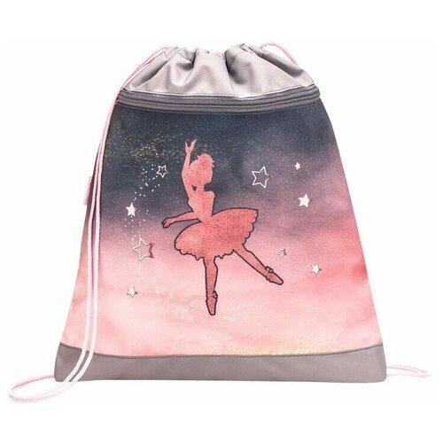 Belmil Мешок-рюкзак для обуви с карманом 35х43 см Ballerina Black Pink 336-91/9Football4 мешок для обуви belmil robot