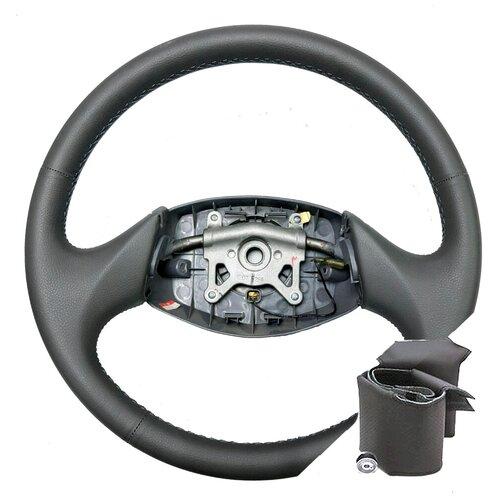 Оплетка для руля Hyundai Accent МТ0, МТ1, МТ2, AТ4 без подушки безопасности - серая нить
