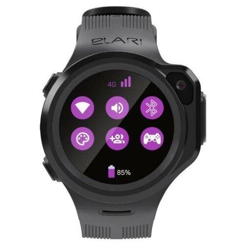 Часы ELARI KidPhone 4GR с Алисой Черный elari elft l pnk часы kidphone fixitime lite розовые