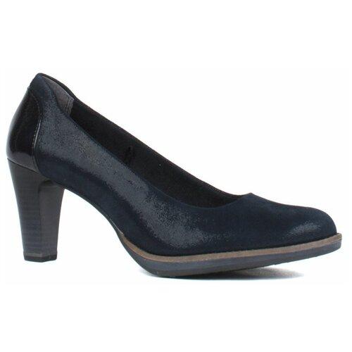 Туфли Tamaris , размер 37 , темно-синий туфли блестящие с цветочком темно синий