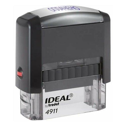 Фото - Штамп стандартный оплачено, оттиск 38х14 мм, синий, TRODAT IDEAL 4911 DB-1.2, 161487 штамп trodat 4911 db прямоугольный копия верна самонаборный синий