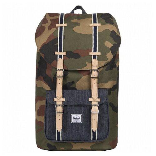 Городской рюкзак Herschel Little America 25, Woodland Camo/Dark Denim