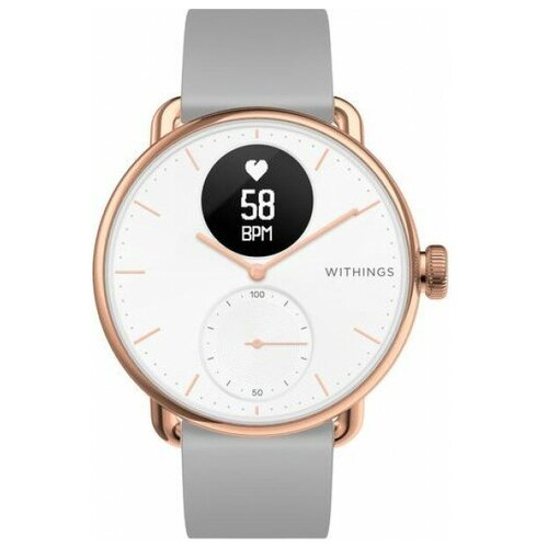 Часы Withings ScanWatch 38mm with silicone band rose gold (550075) розовое золото