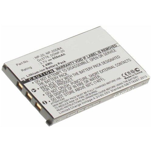 Фото - Аккумулятор iBatt iB-B1-F138 650mAh для Casio NP-20 Casio, аккумулятор для фотоаппарата casio np 60