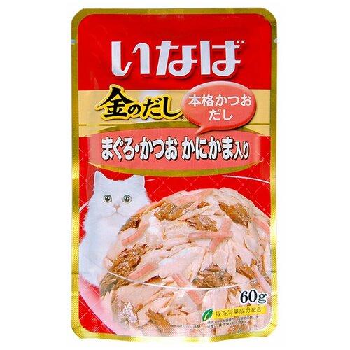 CIAO влажный корм для кошек, японский тунец бонито и камчатский краб 60 гр (34 шт)