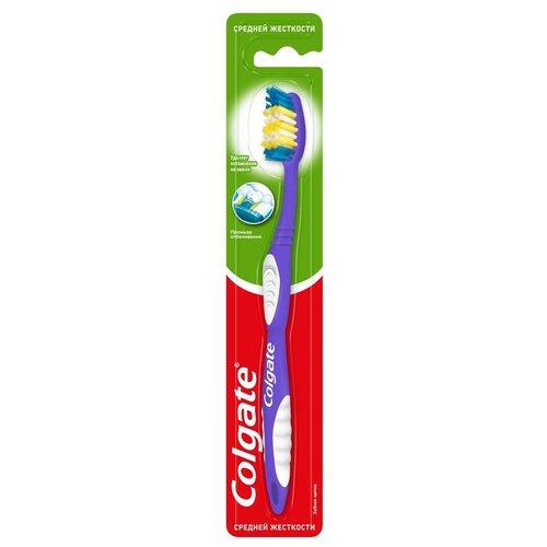 Зубная щетка Colgate Премьер Отбеливания, средней жесткости, фиолетовый