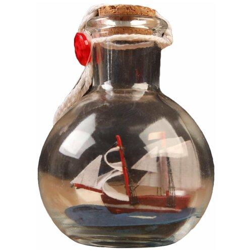 Корабль сувенирный, в бутылке, вертикальн. 9*7см 5285444 по цене 412