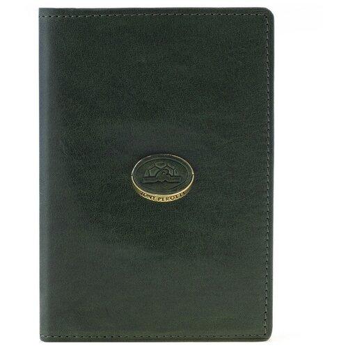 Обложка для паспорта Tony Perotti Topkapi gioil, женская, натуральная кожа, зелёный