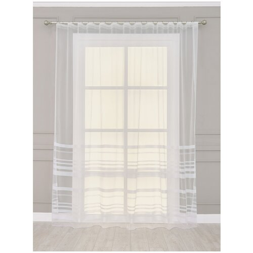 тюль тд текстиль кристин голуб 300 270 Тюль Лиа SANPA HOME COLLECTION, 300*270 см, белый