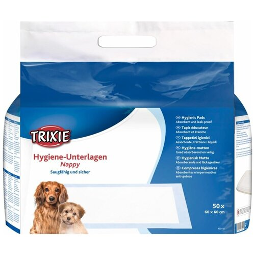 Одноразовые пеленки для собак, 60 X 60 см, 50 шт., Trixie (товары для животных, 23418)