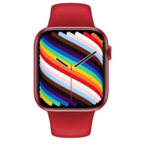 Умные часы IWO HW19 Series 6, два ремешка, 44мм, красный