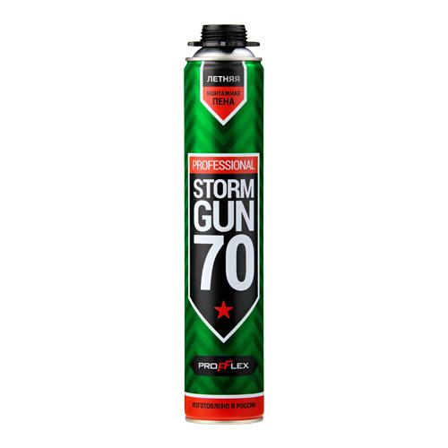 Пена монтажная профессиональная PROFFLEX STORM GUN PRO 70, 850 мл.