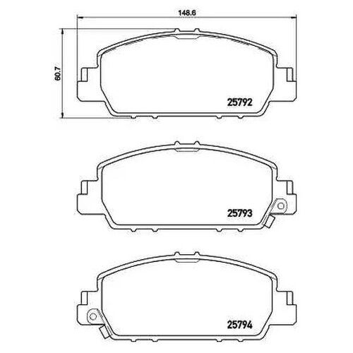 Дисковые тормозные колодки передние NISSHINBO NP8026 для Honda (4 шт.)