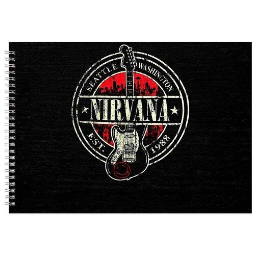 Альбом для рисования, скетчбук Nirvana SEATTLE WASHINGTON