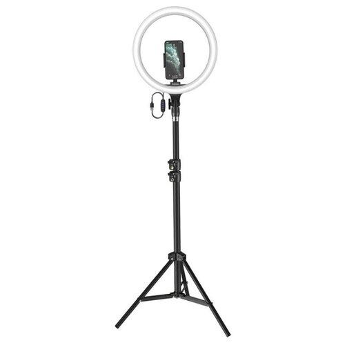 Фото - Лампа кольцевая на штативе Baseus Live Stream Holder-Floor Stand (CRZB12-B01) Чёрная geometric pattern floor mat