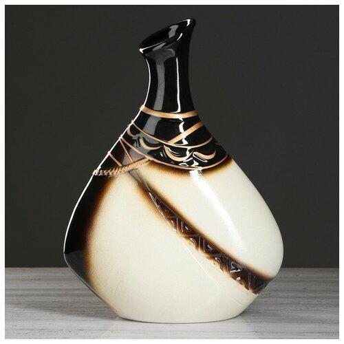 Керамика ручной работы Ваза настольная Тикорам 36,5 см, керамика ваза керамика ручной работы кегля 4341586 коричневый