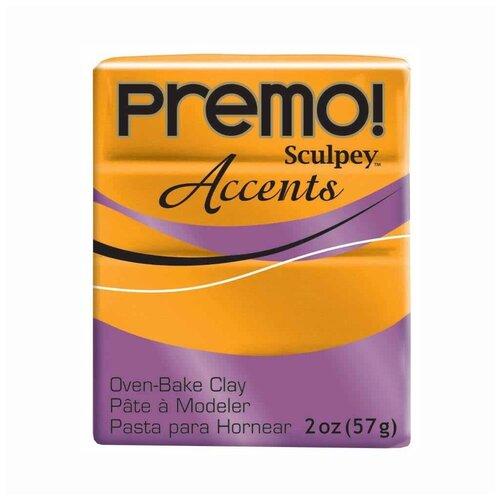 Купить Полимерная глина Sculpey Premo, 57 г, под золото (PE02), Глина