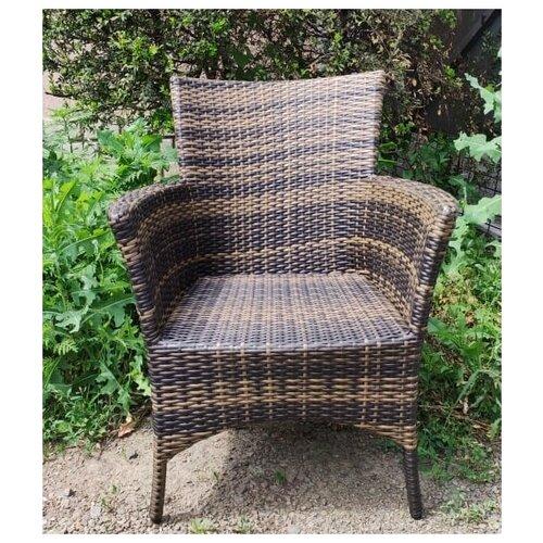 Кресло Кипр, плетеное из искусственного ротанга орех градиент