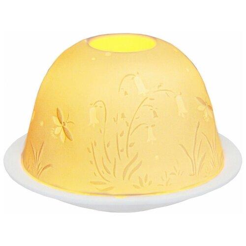 Подсвечник для чайной свечи летний ЛУГ, фарфор, 8х12 см, SHISHI 33371