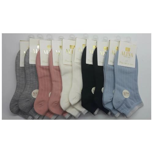 Носки женские Alina СС203 / 10пар ,серые, белые, розовые, черные, голубые , размер 37-41
