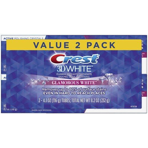 Crest 3D White Glamorous White – Набор из 2 зубных паст