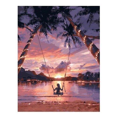 Купить Картина по номерам на холсте Paintboy Закат в раю , 40х50 см, GX-29710, Картины по номерам и контурам