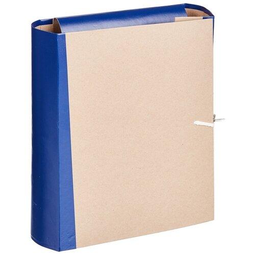 Купить Папка архивная Attache корешок 8 см, 4 завязки, синяя (54816), Файлы и папки