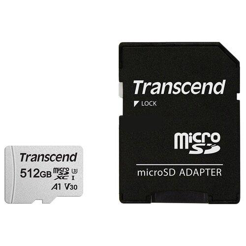 Фото - Карта памяти 512Gb - Transcend 300S Micro Secure Digital XC Class 10 UHS-I TS512GUSD300S-A с переходником под SD (Оригинальная!) карта памяти 512gb transcend 300s secure digital xc class