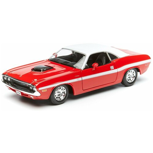Фото - Maisto Машинка Dodge Challenger R/T Coupe 1970, 1:24 красная lego lego speed champions mopar dodge srt dragster and 1970 dodge challenger t a