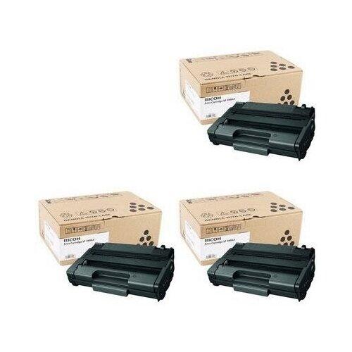 Ricoh SP 3400-LE 3 Pack (406523-3PK) Картриджи комплектом SP-3400-LE черный 3 упаковки, уменьшенной емкости [выгода 3%] Black 7.5K для Aficio SP-3400N SP-3400, SP-3400SF, SP-3410DN SP-3410, SP-3410SF [SP3400LE]
