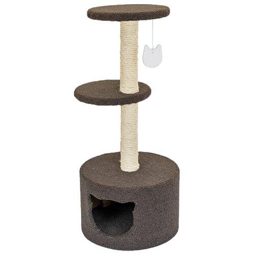 Домик когтеточка для кошек Tappi Равелло сизаль 37 х 37 х 88 см (1 шт)