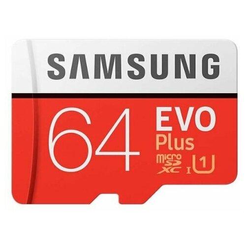 Фото - Карта памяти Samsung Micro SD 64 Гб (10 class) + SD адаптер карта памяти smartbuy micro sd 256 гб
