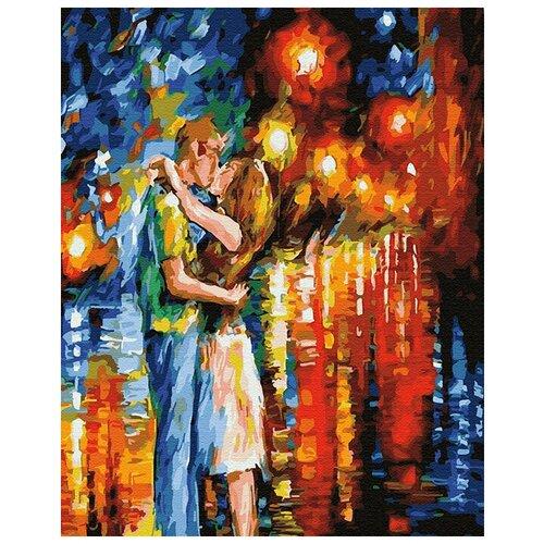 feron 23334 Картина по номерам ВанГогВоМне ZX 23334 Поцелуй в ночных огнях 40х50 см