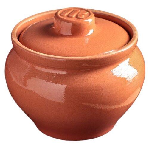 Горшок для запекания Ломоносовская Керамика традиционный, 0.8 л, 15 см