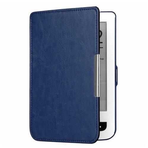 Чехол-обложка футляр MyPads для PocketBook 515 из качественной эко-кожи тонкий с магнитной застежкой синий
