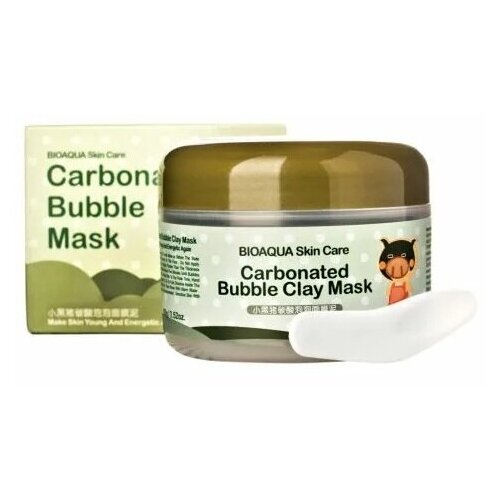 Пузырьковая маска Bioaqua Carbonated bubble clay mask urban dollkiss глиняно пузырьковая маска с угольным порошком carbonated bubble charcoal clay mask 100 мл