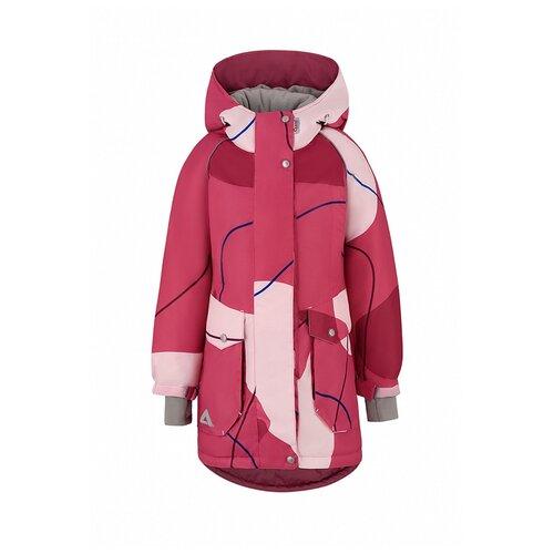 Купить Куртка Oldos размер 140, брусничный, Куртки и пуховики