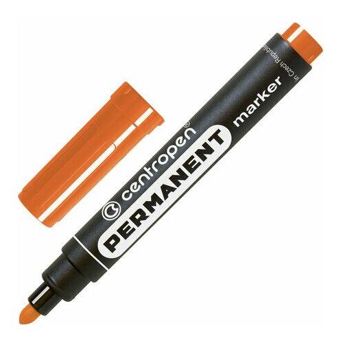Купить Маркер перманентный CENTROPEN 8566, оранжевый, круглый наконечник, 2, 5 мм, 5 8566 0102, 5 шт., Маркеры