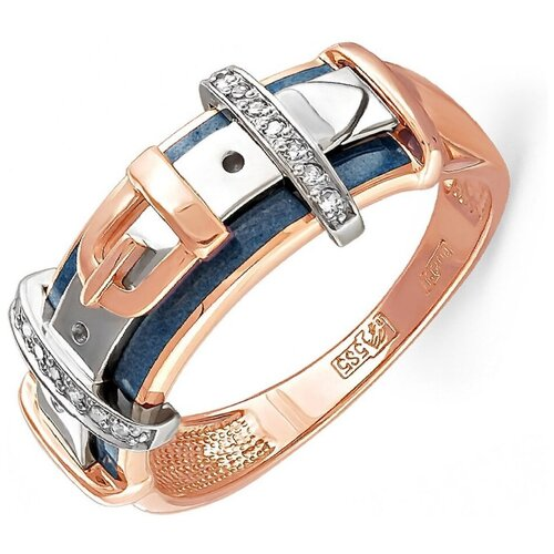 KABAROVSKY Кольцо с 14 бриллиантами из красного золота 11-0449-1003, размер 16.5