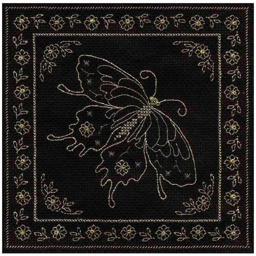 Купить PANNA Набор для вышивания Золотая бабочка 18.5 х 18.5 см (O-0811), Наборы для вышивания