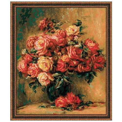 Фото - Риолис Набор для вышивания крестом Букет роз 40 x 48 (1402) риолис набор для вышивания крестом русская охота 60 x 40 1639