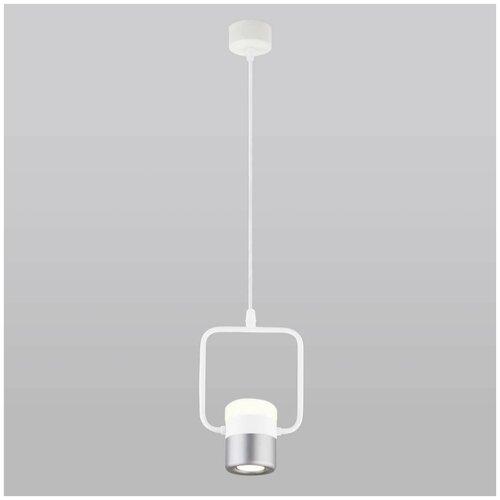 Eurosvet Подвесной светодиодный светильник Eurosvet Oskar 50165/1 LED белый/серебро